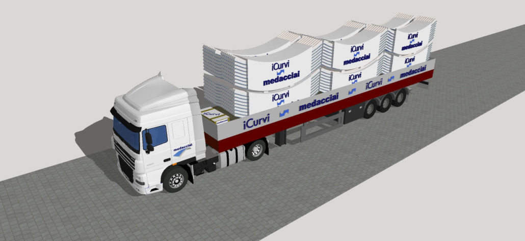 trasporto pannelli curvi 12 pak