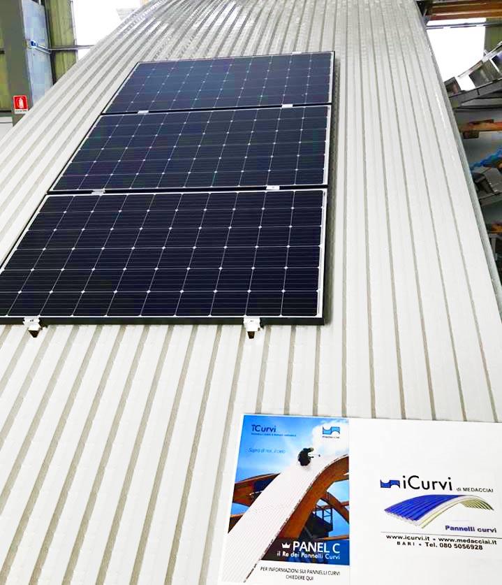 fotovoltaico sui pannelli curvi